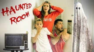 We Stayed In A HAUNTED HOTEL ROOM!!! | The Royalty Family