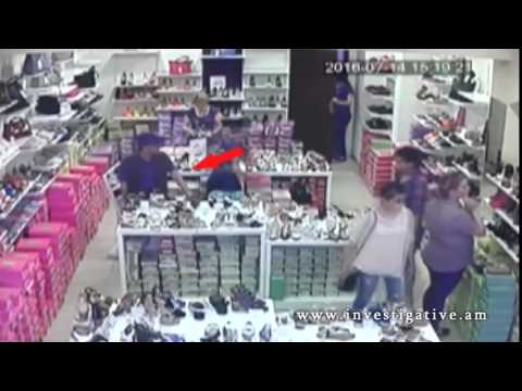 Խանութում գողացել են օտարերկրացու պայուսակը (Տեսանյութ)