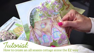 How to create an all season cottage scene the EZ way