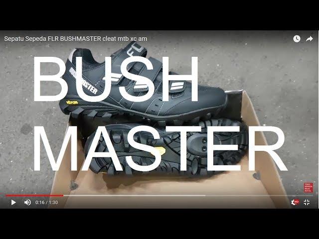 Видео Велотуфли FLR Bushmaster черно-серебристые