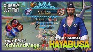 Sushi Master Epic Savage with Perfect Gameplay! XcN AntiMage Top 1 Global Hayabusa ~ Mobile Legends