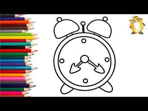 Раскраска для детей ЧАСЫ. Мультик - Раскраска. Учим цвета II ОБУЧАШКА ТВ видео