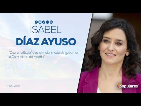"""Díaz Ayuso: """"Querer a España es el mejor modo de gobernar la Comunidad de Madrid"""""""