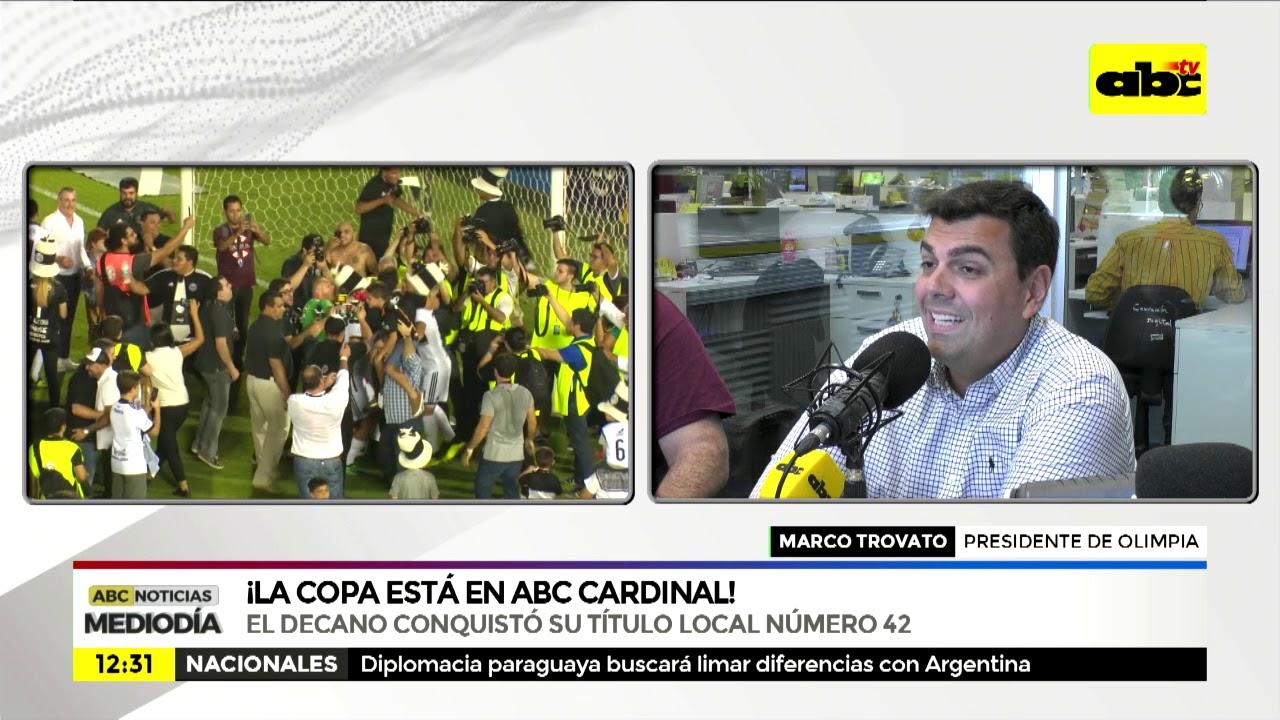 La copa de Olimpia está en Abc Cardinal
