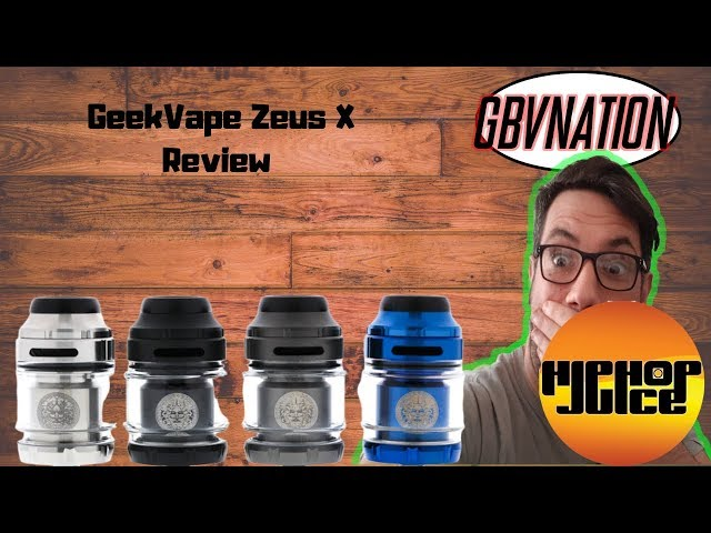#hiphopjuice #geekvape The Mighty Geekvape Zeus X RTA~GBV Review
