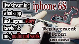 Mic Front Camera iphone 6s Not Work | video call suara tidak keluar