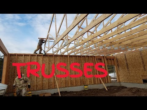 Roof Trusses, Setting Attic Trusses To Make Loft Space