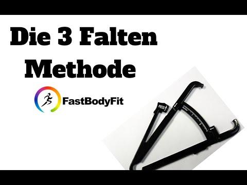 Körperfett messen mit der Körperfettzange u. 3 Falten Methode (Fat Caliper). Mit Software