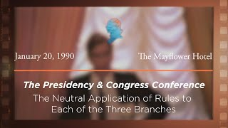 Click to play: Luncheon Address by White House Counsel C. Boyden Gray: The Neutral Application of Rules to Each of the Three Branches [Archive Collection]