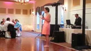 Funny Maid of Honor Poem Speech- Jane and Matthew's Wedding July 19, 2014