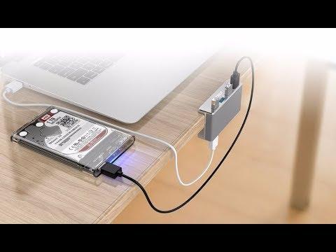Алюминиевый хаб (концентратор) на 4 порта USB 3.0 ORICO MH4PU с зажимом для стола