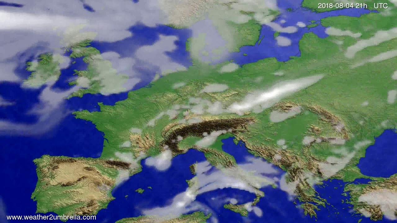 Cloud forecast Europe 2018-08-01