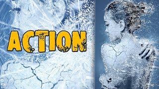 Как работать с экшэнами в Фотошоп/ Frozen Ice Action