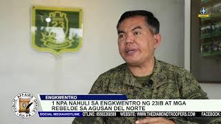 NPA nahuli sa engkwentro ng 23IB at mga rebelde sa Agusan del Norte