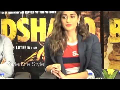Ileana Decruz  At Baadshaho Press Conference || Style Life Style (видео)