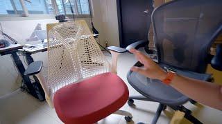 最美型的人體工學椅|Herman Miller Sayl 全功能...使用心得介紹 Ft Aeron