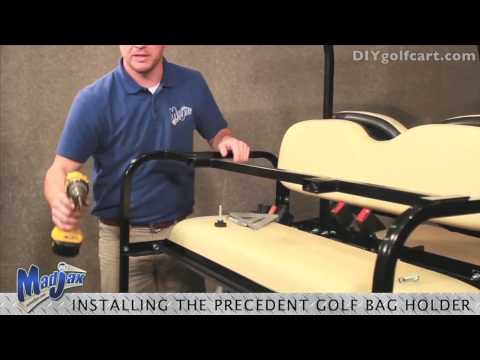 Rear Seat Golf Bag Attachment | How to Install Video | Installing Golf Cart Bag Attachment