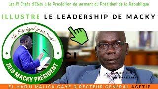 Serment devant 19 Chefs d'Etat: Un leadership de Macky selon El hadji malick Gaye dg AGETIP