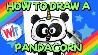 How To Draw A Pandacorn!
