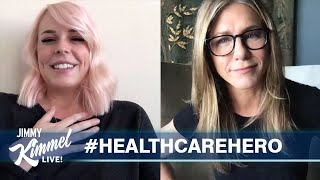 Jimmy Kimmel & Jennifer Aniston Surprise an Amazing Nurse