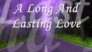 """Video thumbnail of """"A Long And Lasting Love (Crystal Gayle with Lyrics) 2-15-15"""""""