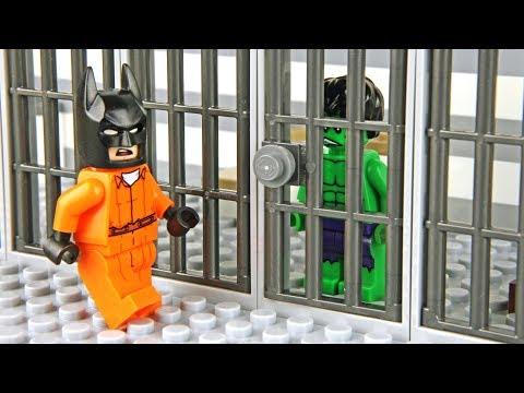Lego Batman and Hulk Prison Break