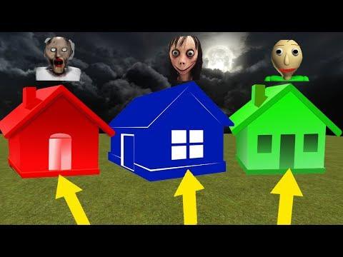 จะอยู่บ้านใครดี! granny momo baldi | Roblox Ghost Home