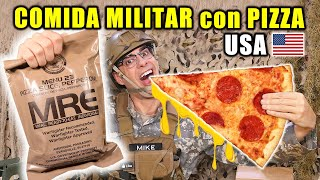 Mike prueba una de las raciones de comida militar más deseadas de Estados Unidos, la ración con Pizza Pepperoni. Kit supervivencia MRE Pizza Pepperoni USA Ration Menu 23 en español. Mike estará ante un expectativa vs realidad de la pizza pepperoni.   Instagram - https://www.instagram.com/curiosidadesconmike