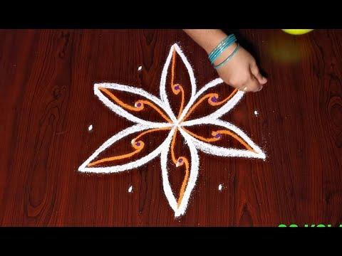 Deepada muggulu designs || karthigai deepam kolam || diwali rangoli with dots