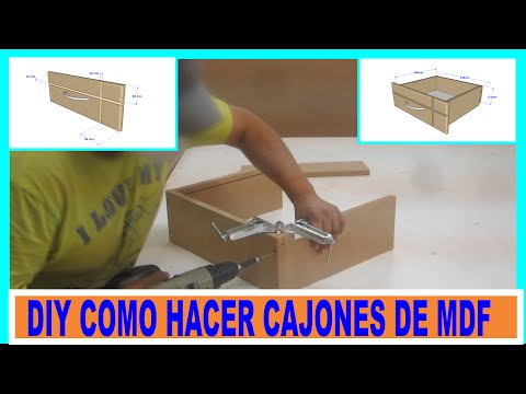 Como hacer cajones de placas de mdf para muebles/DIY MDF drawers