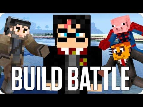 ¡BONITAS GAFAS! BUILD BATTLE   Minecraft con Sara y Exo
