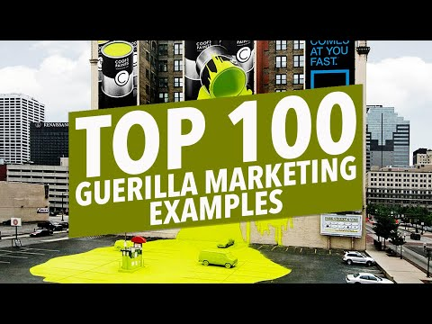 100 Best Guerilla Marketing Tactic Examples