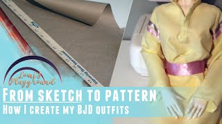 From Sketch To Pattern: How I Make Ideas Into Doll Clothes (Plus: My First Printed Book Arrived)