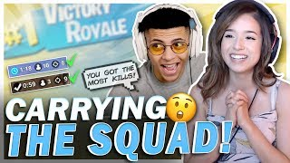 POKI CARRIES THE SQUAD AGAIN!? Ft. TSM Myth, FaZe Cizzorz & CouRageJD!