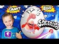 World's Biggest CAPTAIN UNDERPANTS Egg! Real Life SKIT + Funny Pranks Surprise Toys HobbyKidsTV