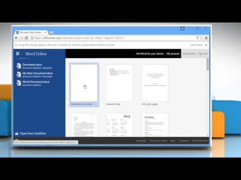 How to use Microsoft® Word Online ( Tutorial Part 1)