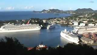 preview picture of video 'Castries, Saint Lucia'
