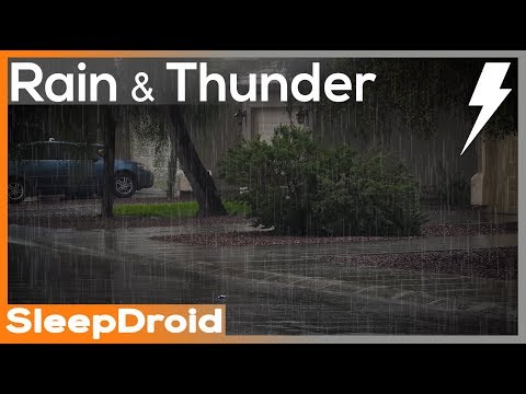 ▻10 hours of Rain and Thunderstorm Sounds for Sleeping in
