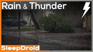►10 hours of Rain and Thunderstorm Sounds for Sleeping in the Suburbs. Relaxing Nature Sound: Lluvia