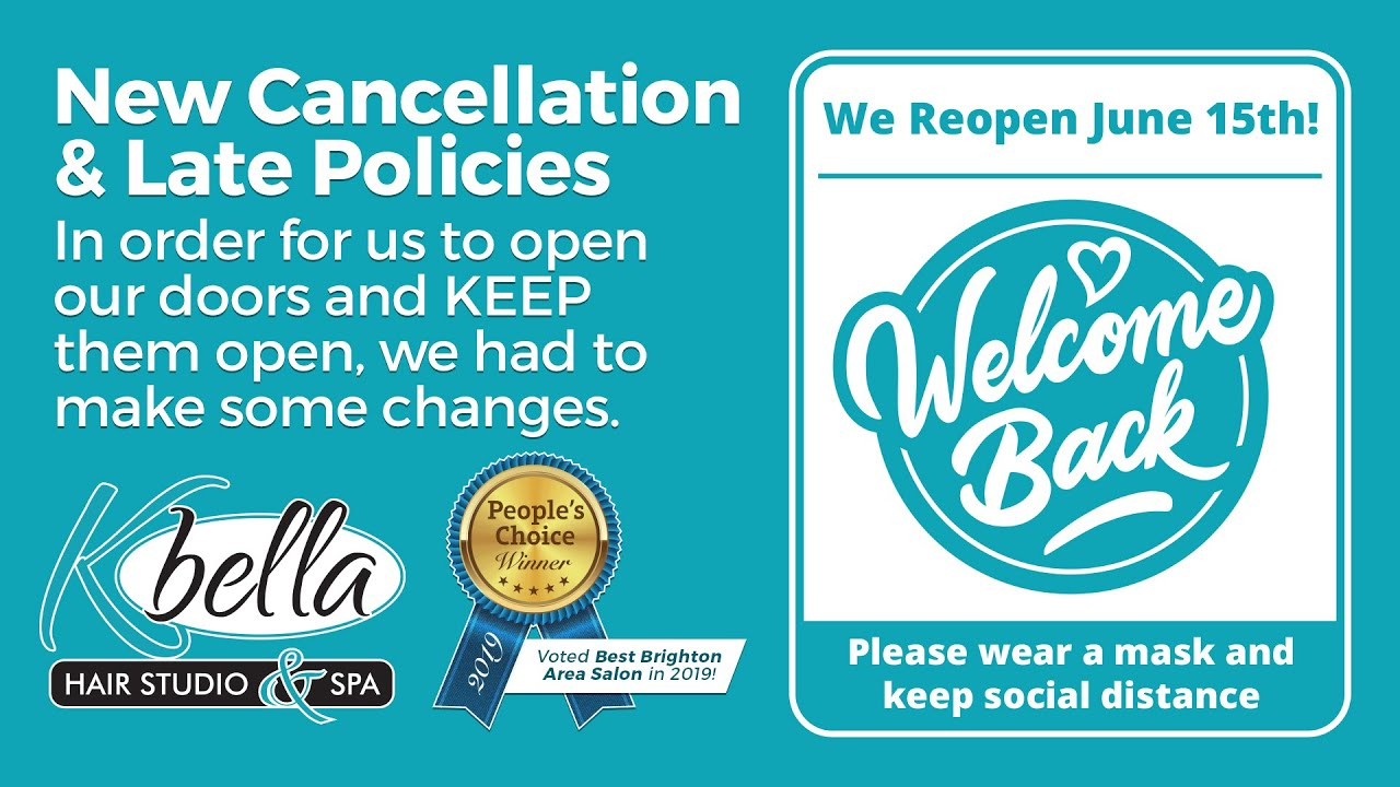 New Cancellation & Late Policies
