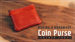 Leather Coin Purse / 가죽 동전 지갑 / Leather Craft PDF / 가죽공예 패턴 / ASMR