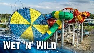 ALL WATER SLIDES at Wet