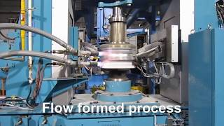 Flow formed, flow forming wheel production