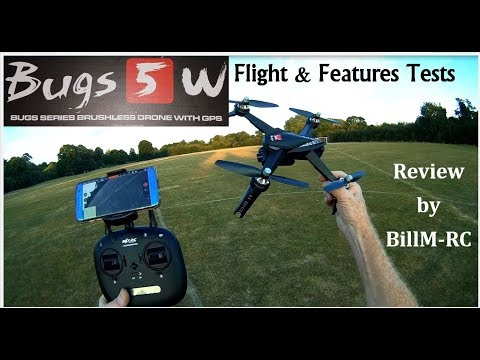 MJX Bugs 5W B5W Flight & Features tests review