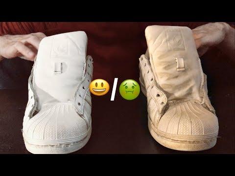 Nettoyer la semelle blanche de ses chaussures de sport Gaël gagne du temps