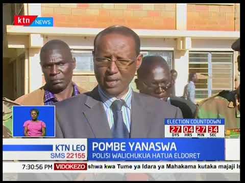 Polisi kaunti ya Uasin Gishu katika maeneo ya Eldoret wanasa pombe na sigara haramu