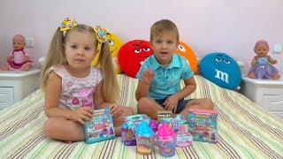 Roma and Diana opens Surprise Toys for kids