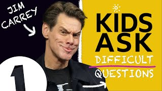 """Brad Pitt, can I say b******?!"": Kids Ask Jim Carrey Difficult Questions"