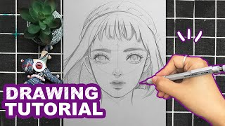 How To Draw Semi Realistic Face For Beginners   Collection Of Drawing Tutorials   Huta Chan