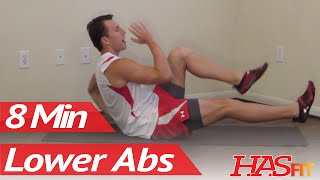 8 Minutes Lower Ab Workout - HASfit's Lower Abdominal Exercises - Work Out Lower Abs by HASfit